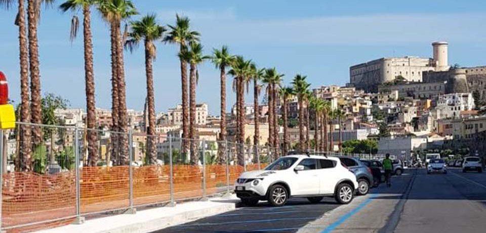 Gaeta / Lungomare Caboto: disponibili i parcheggi sul secondo tratto