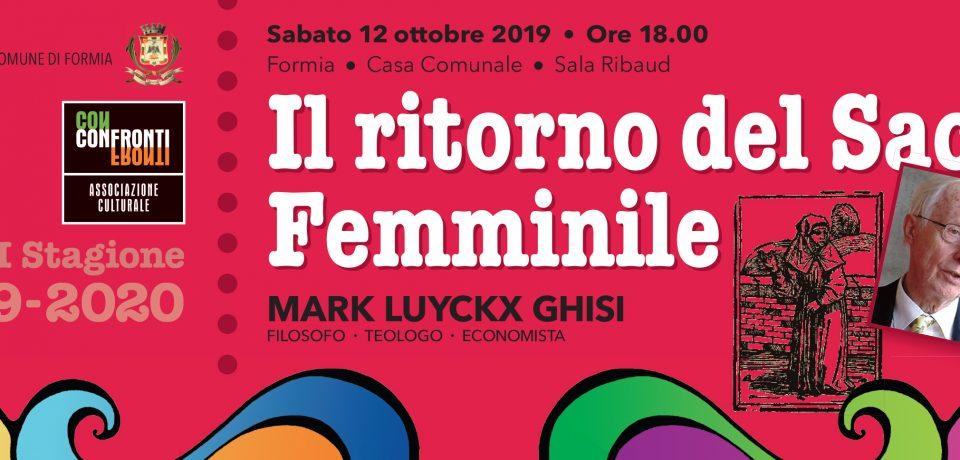 """Formia / Settima Stagione per """"Il ritorno del Sacro Femminile"""""""