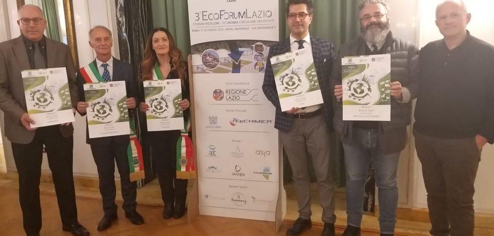"""Formia riceve il premio di """"Comune Riciclone"""" al 3° Ecoforum del Lazio"""