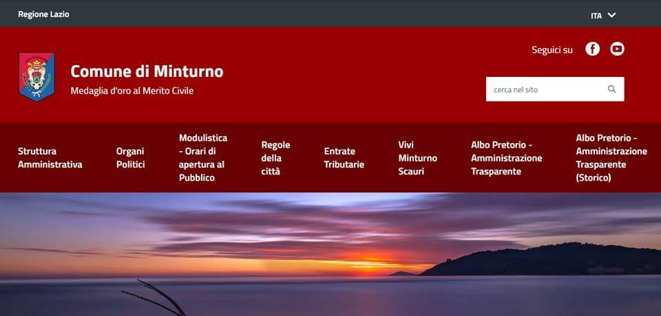 Online il nuovo sito web del Comune di Minturno
