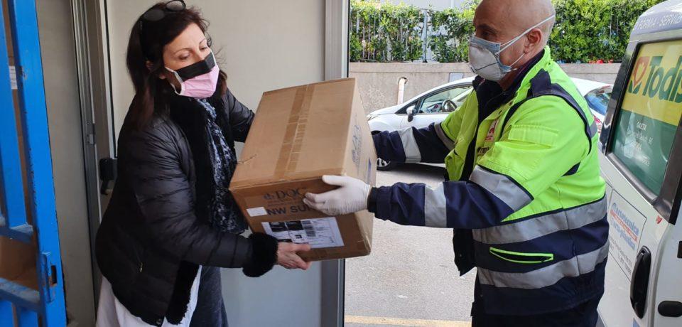 Coronavirus, raccolti 70mila euro per il Dono Svizzero di Formia: consegnati i primi Dpi