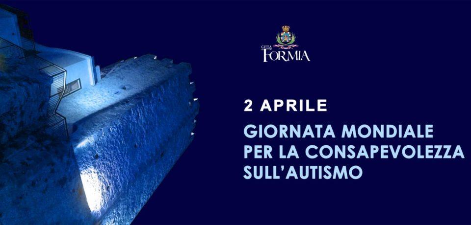 Formia aderisce alla Giornata Mondiale dell'Autismo: la Torre di Castellone illuminata di blu