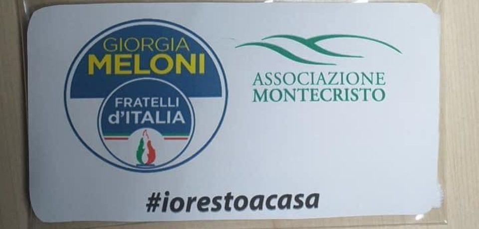 Coronavirus, mascherine con il logo di Fratelli d'Italia: a Gaeta è polemica